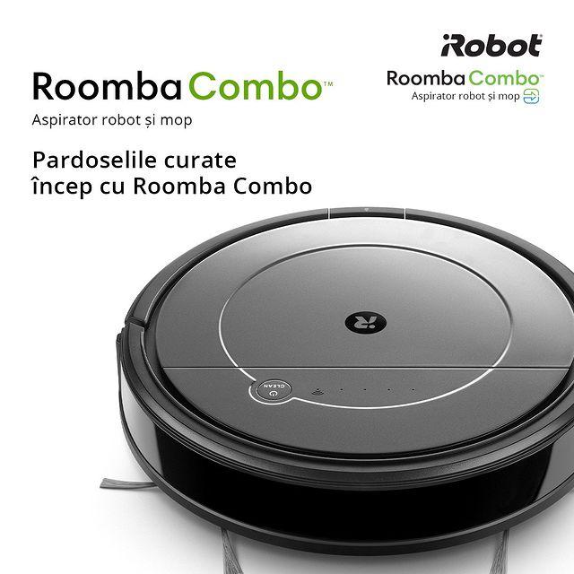 Curățenia îți ocupă adesea timpul liber?   Roomba Combo vine în ajutorul tău și poți lăsa în seama lui atât aspirarea, cât și ștergerea pardoselelor. ✅  Vezi mai multe detalii aici - https://bit.ly/3Bqq0L1    #cleaning #cleaninghacks #cleanhouse #cleanhome #curatenie  #cleanhouse #aspirator #irobot #roombacombo